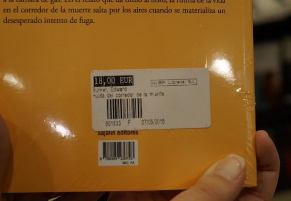 Цены на книги в Испании